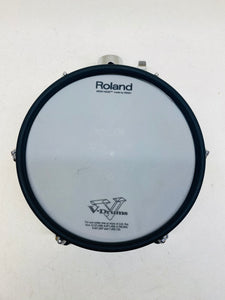 "Roland PD-105x 10"" Brushed Silver Mesh Tom Pad"