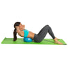 Female performing crunch with Core Ab Ball
