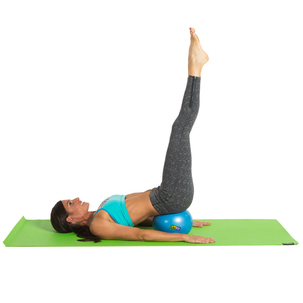 Female performing Reverse Curl with Core Ab Ball