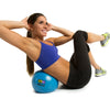 Female performing oblique crunch with Core Ab Ball