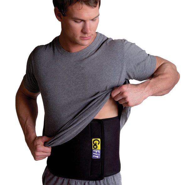 Male wearing Double Thick Waist Trimmer