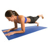 Female planking with one leg raised on Double Thick Yoga Mat