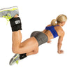 Female performing Glute Press Ups with Adjustable Ankle Weights