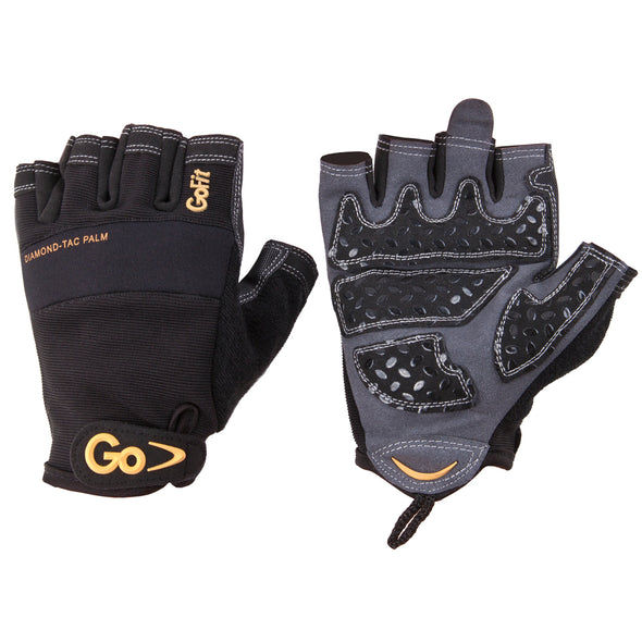 Front and back view of Diamond-Tac Pro Trainer Gloves