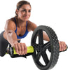 Female utilizing Extreme Ab Wheel