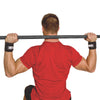 Male utilizing Elastic Wrist Strap with weight bar