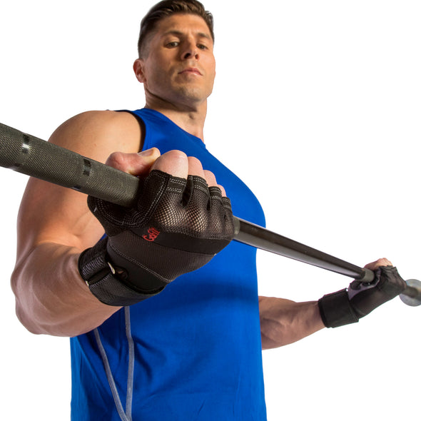 Male using Xtreme Wrist Wrap Gloves with Articulated Grip