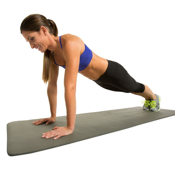 Female performing High Plank on Fitness Mat