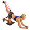Female performing Glute Kick Ups with Glute Blaster Belt
