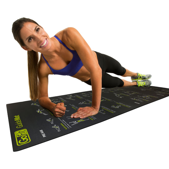Female performing Side Plank on Guide Mat