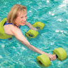 Female utilizing GoH2O barbells & belt in pool