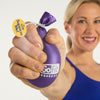 Female squeezing Purple Go Grip Stress Reliever