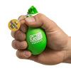 Hand squeezing green Go Grip Stress Reliever