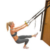 Female utilizing Gravity Straps Body Weight Trainer