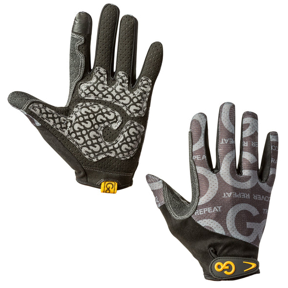 Front and back of Go Grip Full Finger Training Gloves