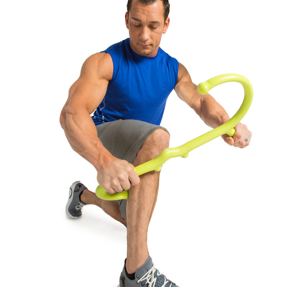 Male utilizing Muscle Hook on calves