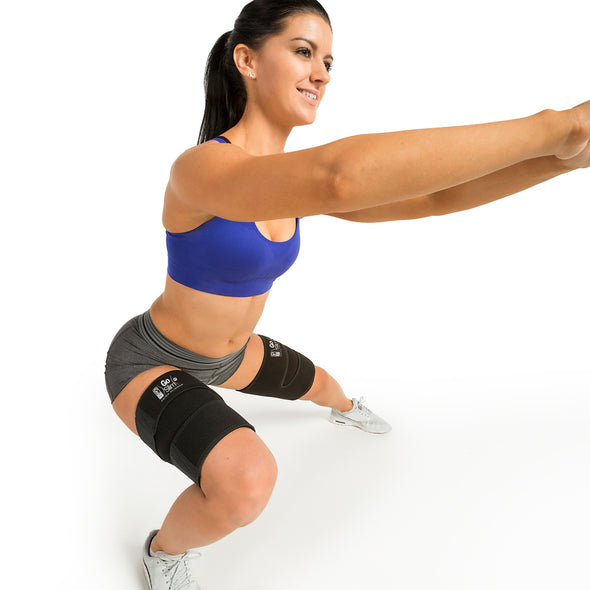 Female performing Lateral Lunge w/ GoSlim Thigh Slimmers