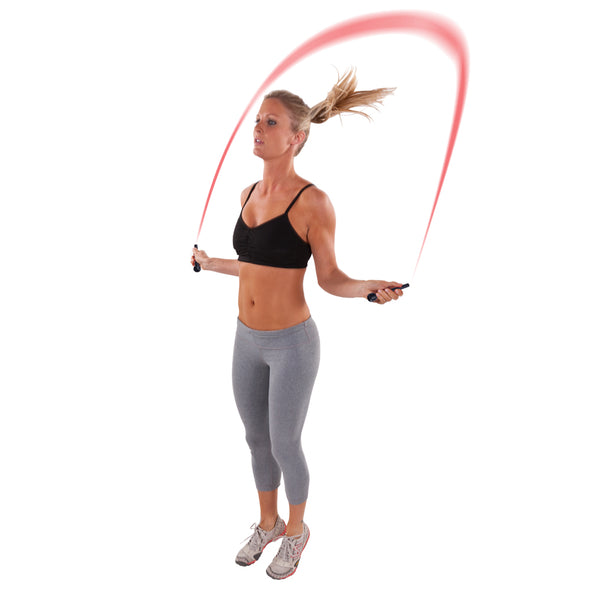 Female jumping with Lightning Rope