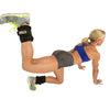 Female performing leg press up w/ Padded Pro Ankle Weights