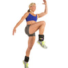 Female performing Knee Ups  w/ Padded Pro Ankle Weights