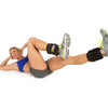 Female performing bicycle crunches w/ Padded Pro Ankle Weights