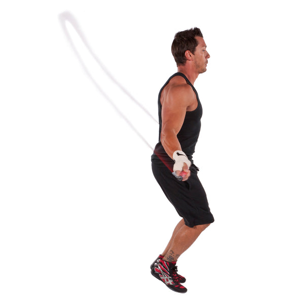 Male jumping w/ Pro Cable Jump Rope