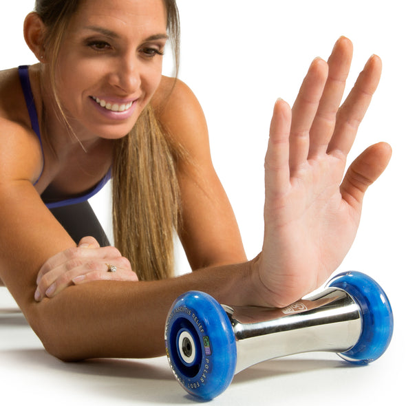 Polar Foot Roller being used on wrist
