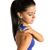 Female rolling shoulder w/ Polar Roll-On Massager