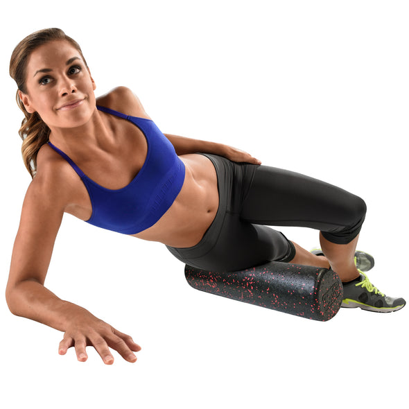 Female rolling IT Band w/ Pro Foam Roll