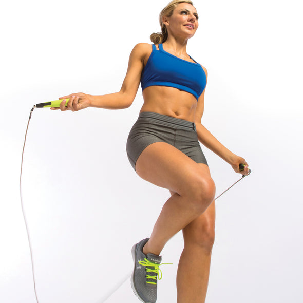 Female jumping w/ Pro Swivel Rope