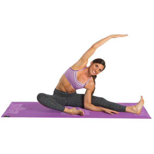 Female using Zen Lotus Designer Yoga Mat
