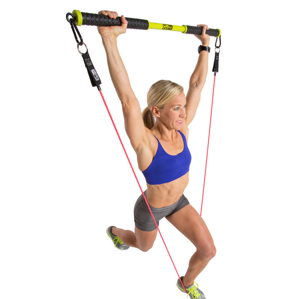 Female using Resist-a-Bar w/ Power Tube