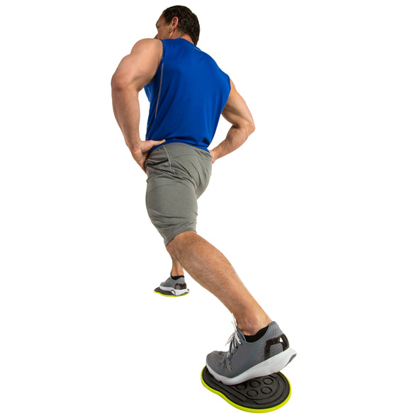 Male performing Back lunge w/ Go Slides