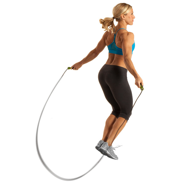 Female jumping w/ Speed Jump Rope