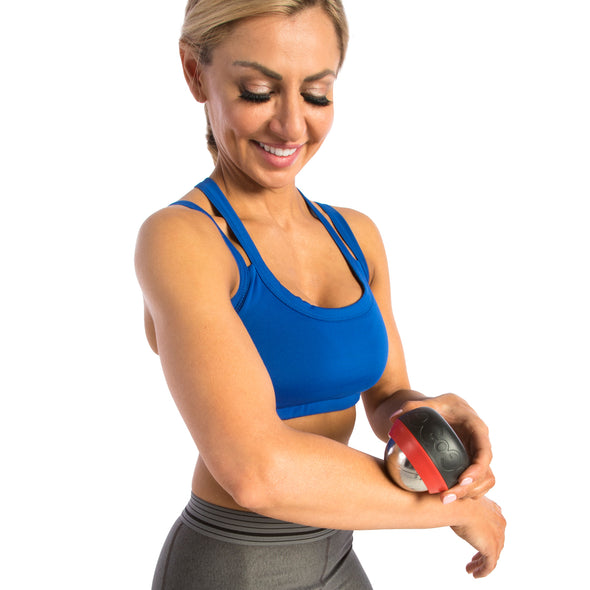Female rolling forearm w/ Thermal Roll-On Massager