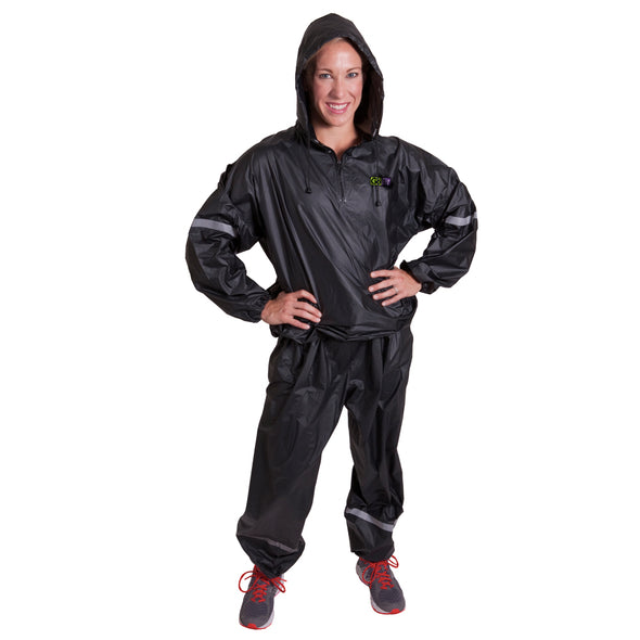 Female wearing Hooded Sweat Suit