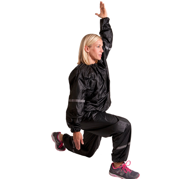 Female wearing Vinyl Sweat Suit