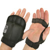 Weighted Aerobic Gloves on hands