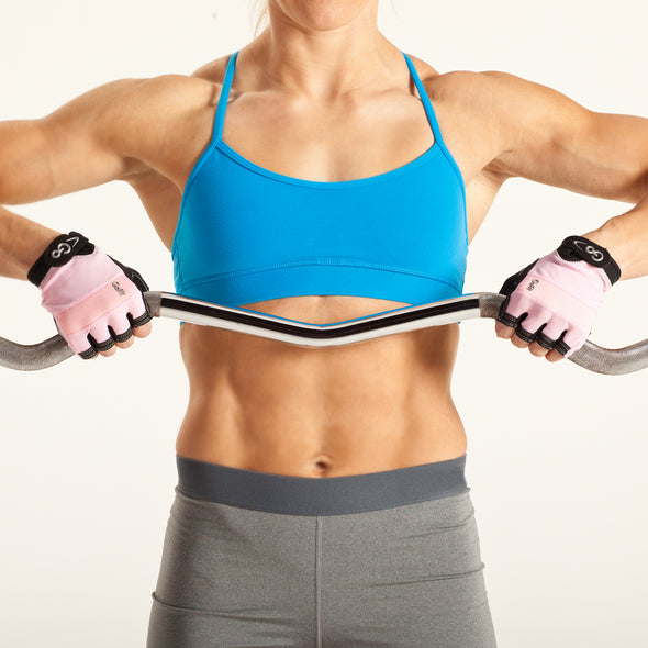 Female using Women's Extreme Articulated Grip Workout Gloves