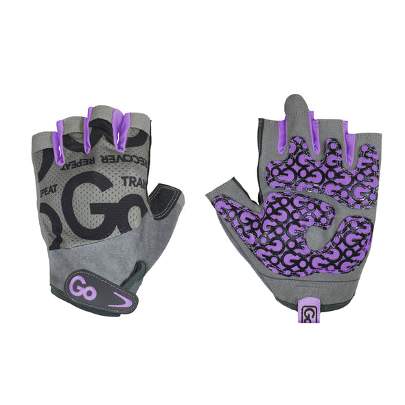 Women's Pro Trainer Gloves—Purple/Gray