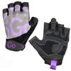 Women's Premium Leather Elite Trainer Gloves—Purple/Black