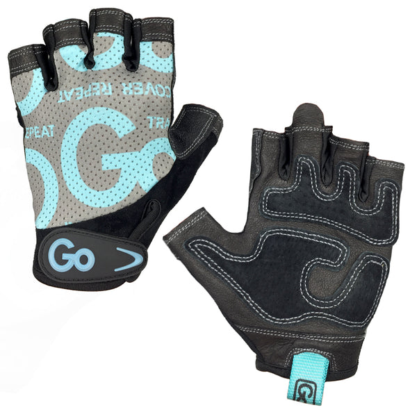 Women's Premium Leather Elite Trainer Gloves—Teal/Black