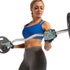 Female using Teal Women's Premium Leather Elite Trainer Gloves
