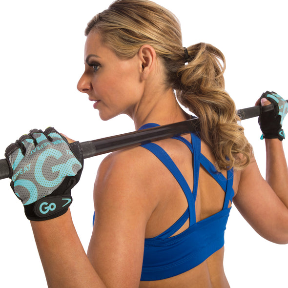 Female using Women's Premium Leather Elite Trainer Gloves
