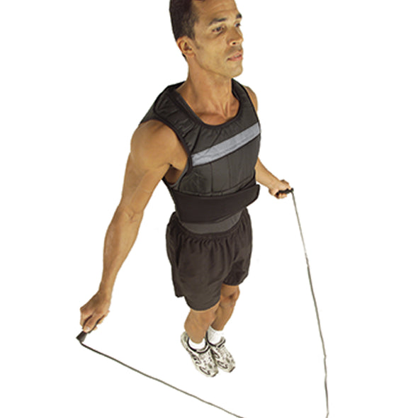 Male jump roping w/ Weighted Vest on