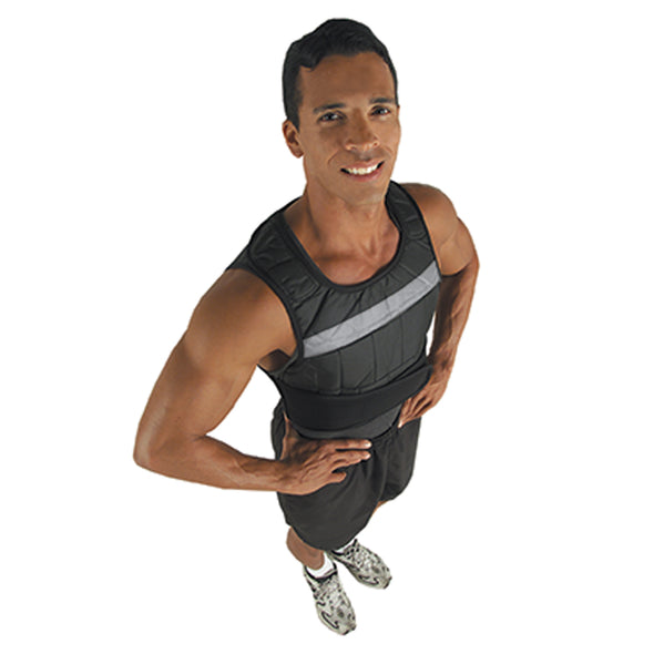 Male wearing Weighted Vest