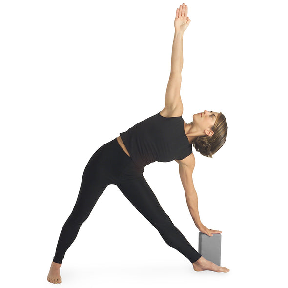 Female using Yoga Block