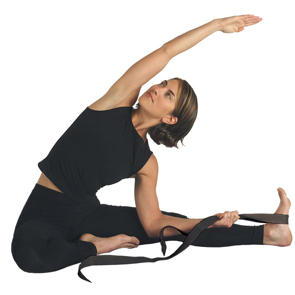 Female using Yoga Strap