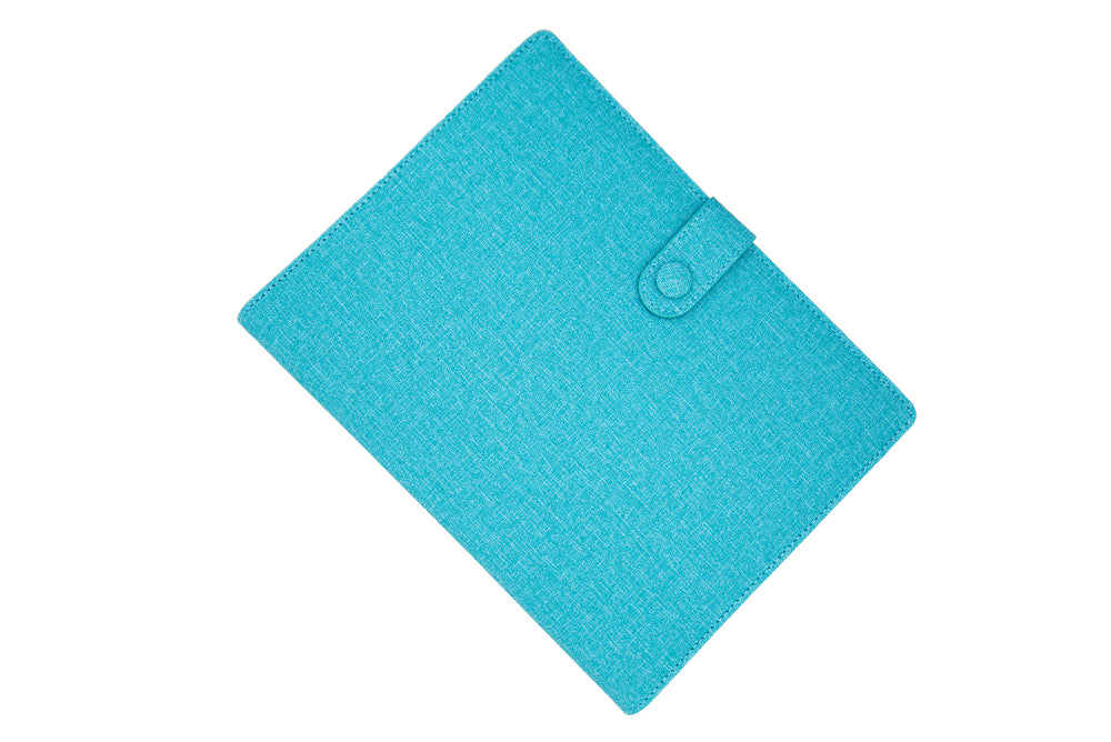 PU Leather PowerBank Notebook Ocean Blue