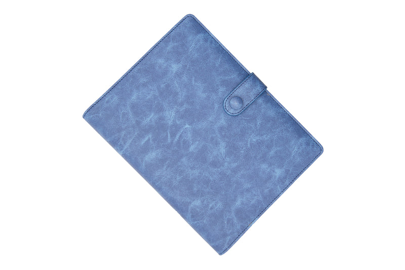 PU Leather PowerBank Notebook Deep Blue